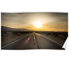 Old Woman Springs Road, sunset Poster