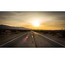 Old Woman Springs Road, sunset Photographic Print