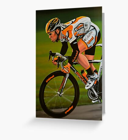 Mark Cavendish Painting Greeting Card