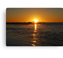 Coral Bay Sunset Canvas Print