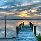 Sunset On The Bay by Monte Morton