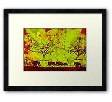 Bisonherde Framed Print