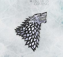 Winter is Coming [Stark House] Iphone Case by Mhaddie
