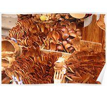 Wooden utensils, Corfu, Greece Poster