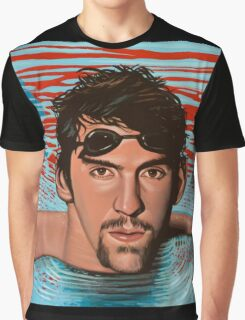 Michael Phelps painting Graphic T-Shirt