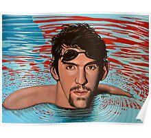 Michael Phelps painting Poster