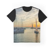 Sailboat Evening Graphic T-Shirt