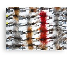 Hand-Tied Flies for Flyfishing Canvas Print