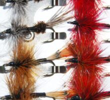 Hand-Tied Flies for Flyfishing Sticker