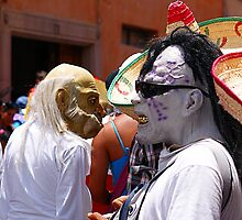 two guys having fun in the day of the crazies parade by ezdrifter