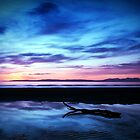 Sunset Over Troon Beach by Aj Finan