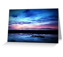Sunset Over Troon Beach Greeting Card
