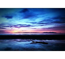 Sunset Over Troon Beach Photographic Print