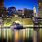 Boston Harbor by night by Philip Kearney