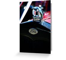 1930 Ford Quail Hood Ornament Greeting Card