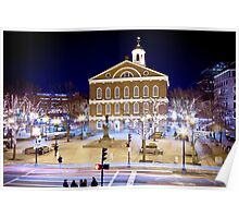 Faneuil Hall by night Poster