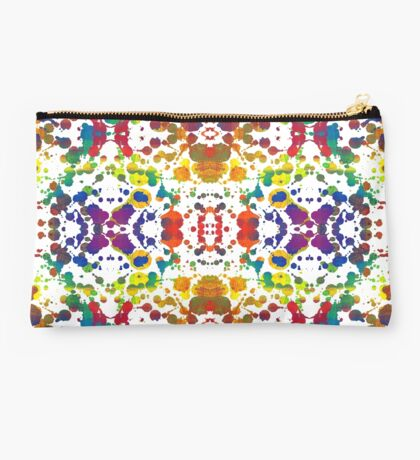 Rainbow Tears, White Studio Pouch