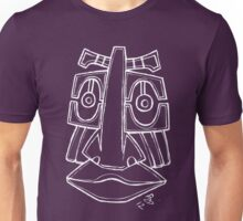 Totem face white Unisex T-Shirt