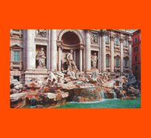 Trevi Fountain III Kids Tee