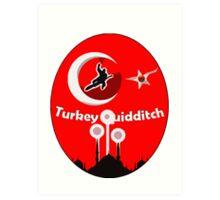 Turkey Quidditch  Art Print