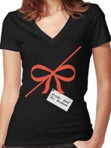 God's Gift To Women Tee Women's Fitted V-Neck T-Shirt