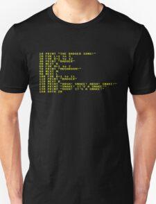 Badger Ad Infinitum - Amber on Black Terminal T-Shirt