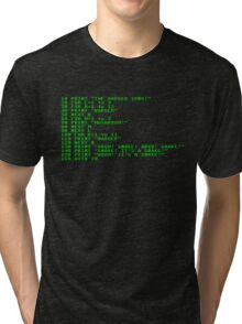 Badger Ad Infinitum - Green on Black Terminal Tri-blend T-Shirt
