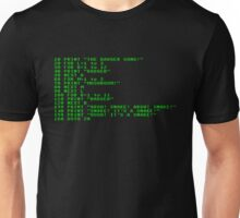 Badger Ad Infinitum - Green on Black Terminal Unisex T-Shirt