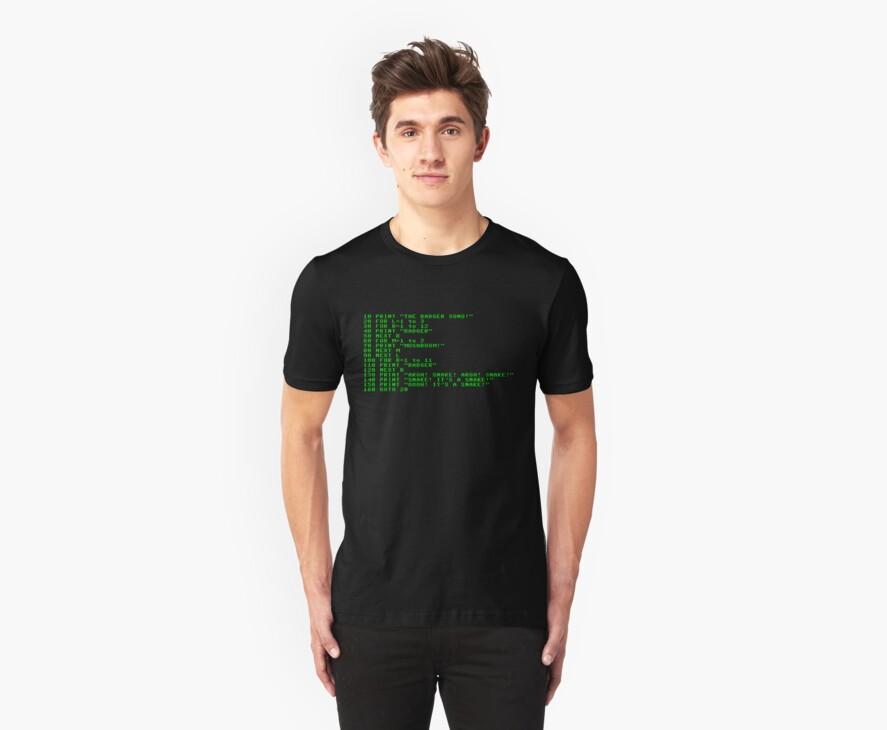 Badger Ad Infinitum - Green on Black Terminal by M Dean Jones