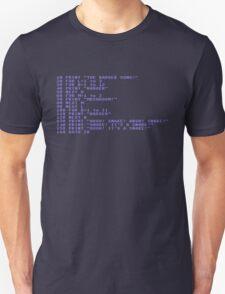 Badger Ad Infinitum - Commodore 64 Style Unisex T-Shirt