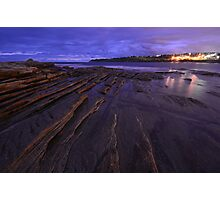 Night Ocean Lights Photographic Print