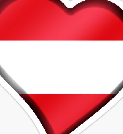 Austrian Flag - Austria - Heart Sticker