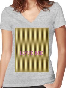 Psycho Love me Women's Fitted V-Neck T-Shirt