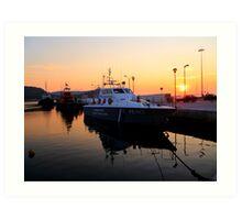 Coast Guard Sunset Art Print