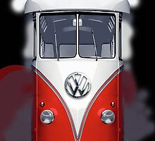 Red Volkswagen VW iphone 5, iphone 4 4s, iPhone 3Gs, iPod Touch 4g case by pointsalestore Corps