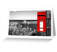 Red Post Box Greeting Card