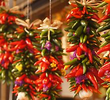 Hanging Peppers  by Brenna  Adelman