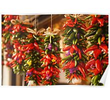 Hanging Peppers  Poster