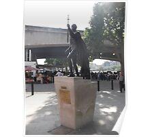 Sculpture(1 of 2): Laurence Olivier -(050712)- digital photo Poster