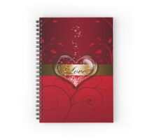 """Love in the Heart"" Spiral Notebook"