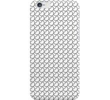 Fish Scales - Black and White iPhone Case/Skin