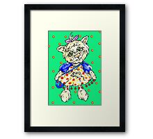 smart kitty Framed Print