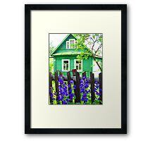 Meadow Green Dacha at Kartashevskaya Framed Print