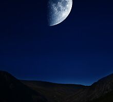 Moon Over The Upper Lake by Denise Abé