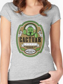 CACTUAR TEQUILA Women's Fitted Scoop T-Shirt