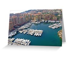 Monaco Marina Greeting Card
