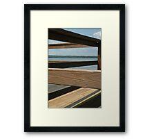 Wooden Lines Framed Print