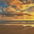 Surfing into the Sunset by Johnathan Bellamy
