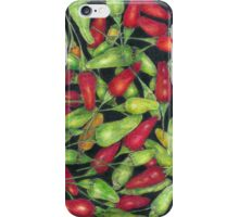 Chilly Harvest (coloured pencils) iPhone Case/Skin