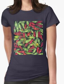 Chilly Harvest (coloured pencils) Womens Fitted T-Shirt
